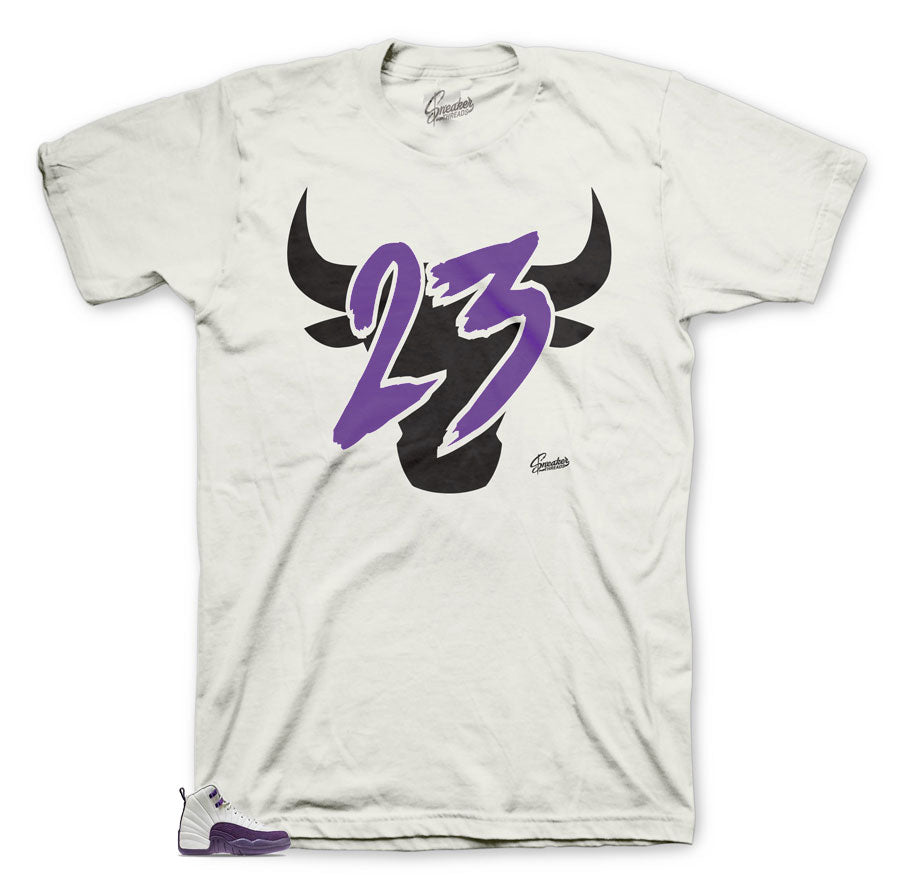 Cool shirts to match the Jordan 12 Pro Purple