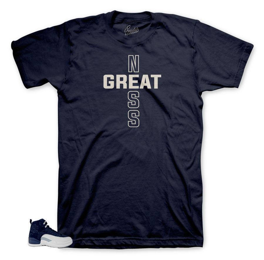 Greatness Cross on Navy shirt for Tokyo Japan 12's