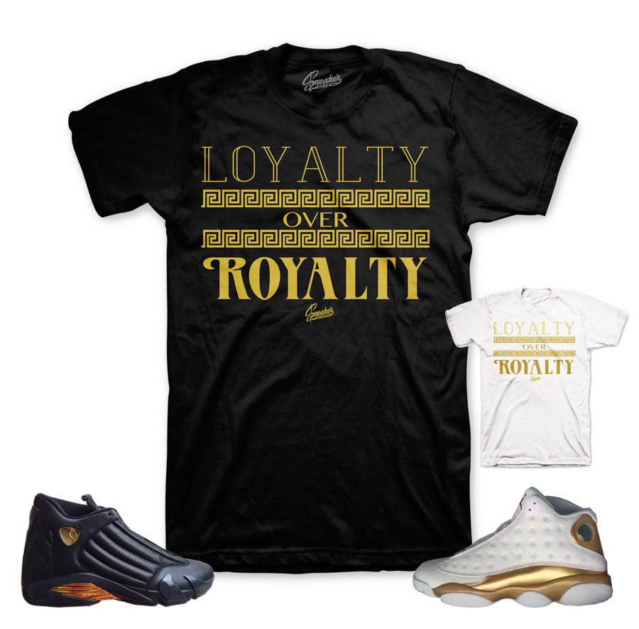 Jordan 13 And 14 DMP shirts match defining moments pack tees.