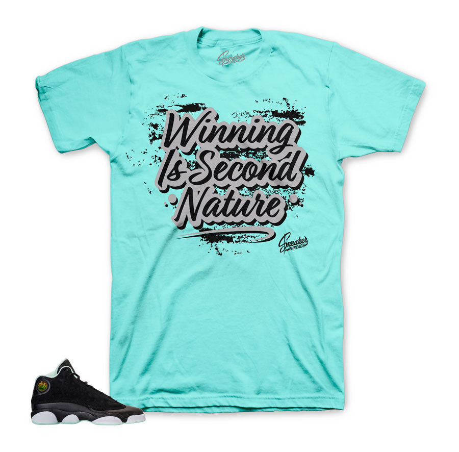 Jordan 13 mint foam tee match | Sneaker match clothing