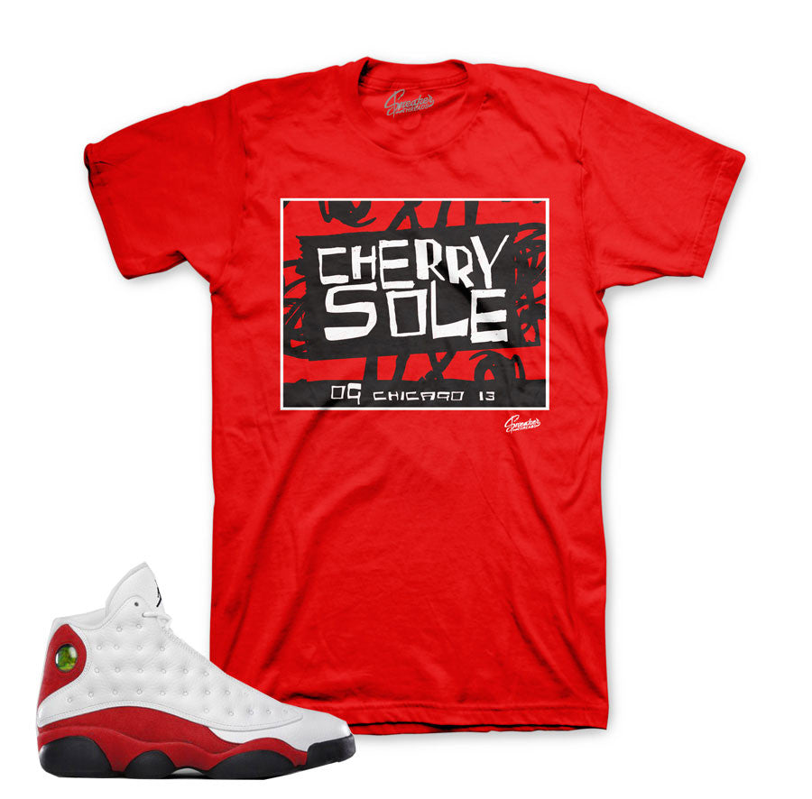 new style 26ea5 febb5 Home Jordan 13 True Red Shirt - Cherry sole - Red. Share