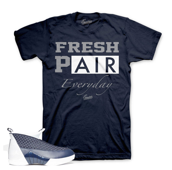 Jordan 15 Obsidian Shirt - Fresh Pair - Navy