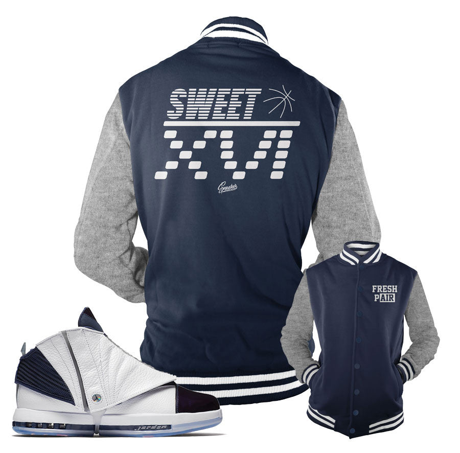 Jordan 16 Navy Jacket - Sweet XVI - Navy
