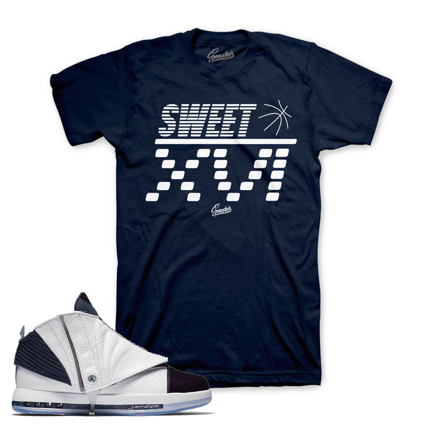 Jordan 16 midnight navy shirts match retro 16 sneaker tees.