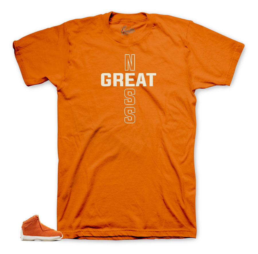 Coolest orange suede 18's matching tee