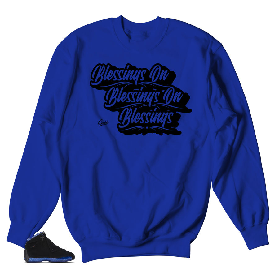 Royal Blessings Sweater to match Royal 18's