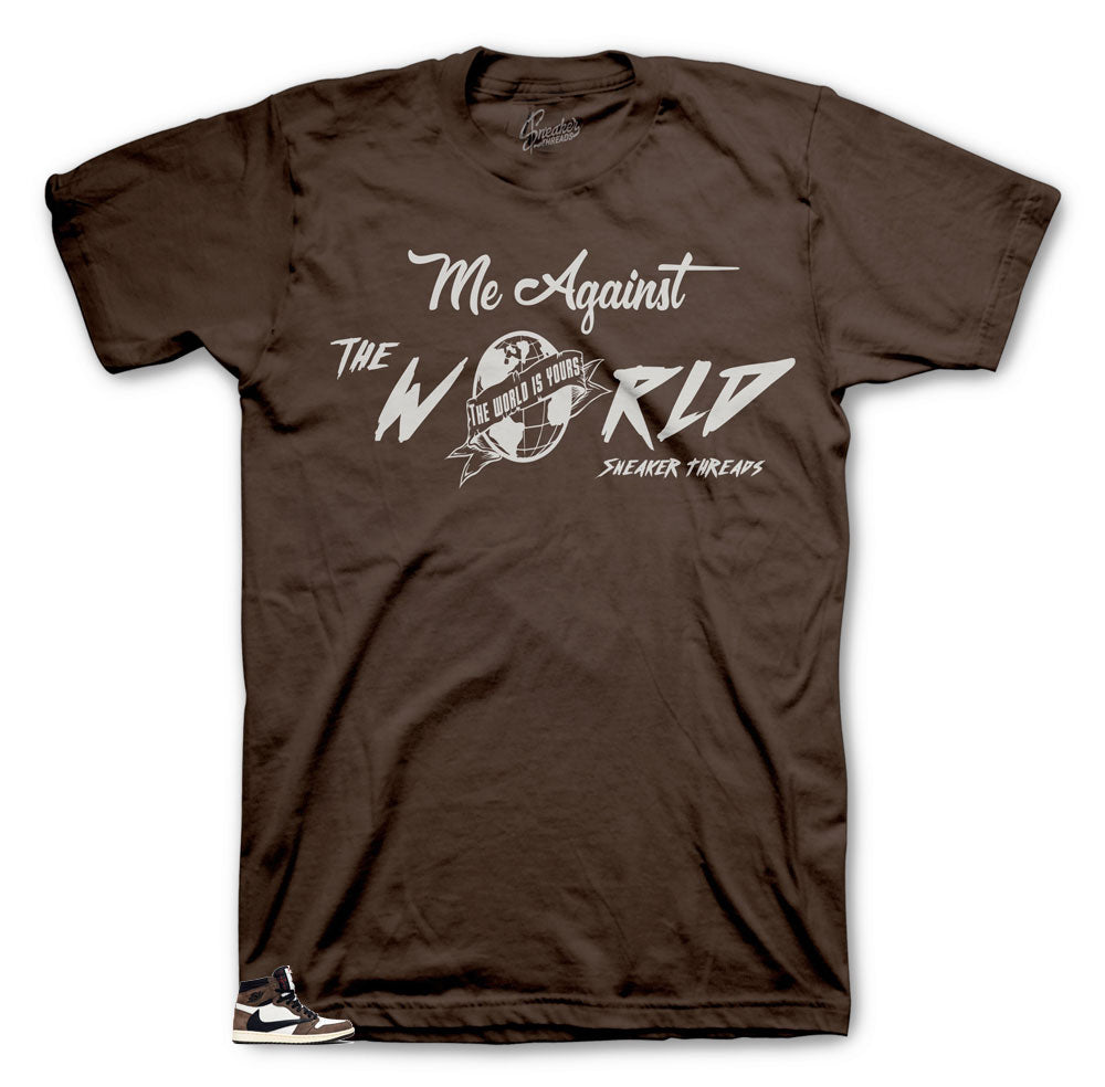 Jordan against the world shirts to match Cactus Jack 1