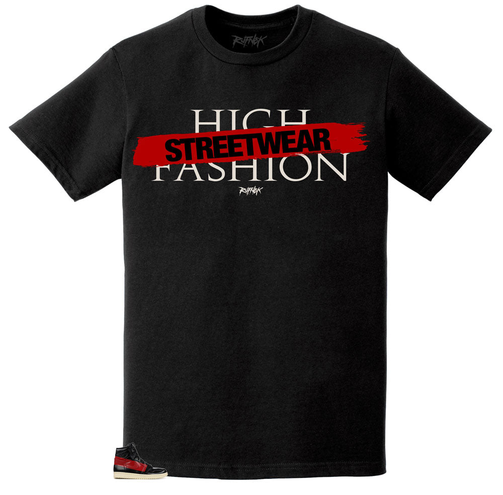 Jordan 1 Couture Shirt - High Fashion - Black
