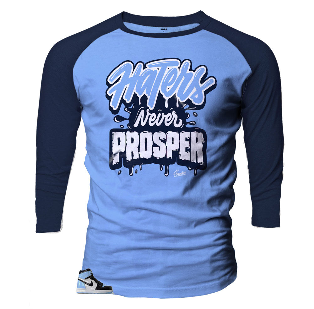 Raglan shirt designed to match Jordan 1 UNC Patent Leather
