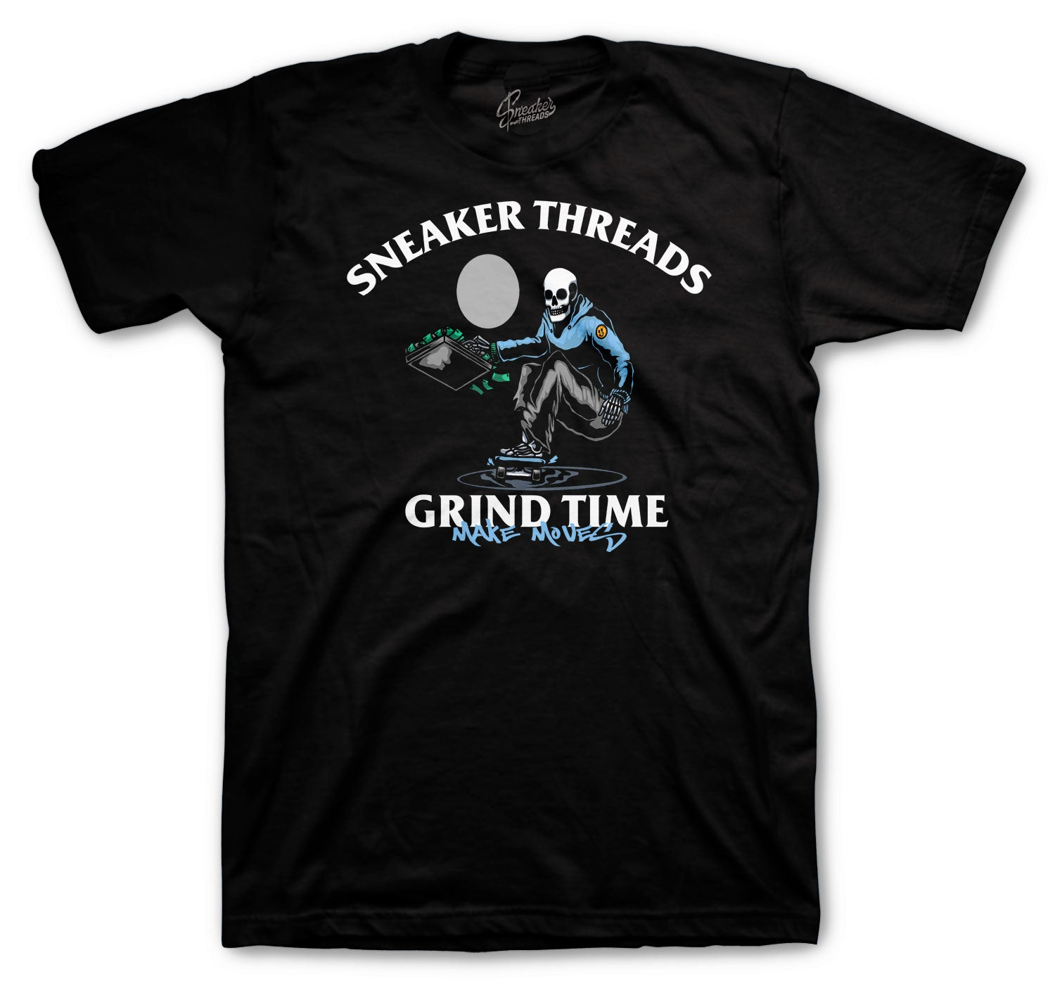 Jordan 1 Uni Blue Shirt - Grind Time - Black