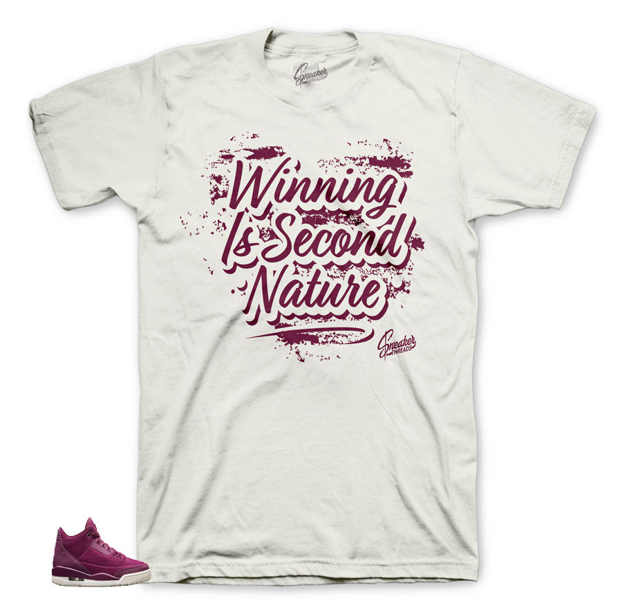 Maroon designed shirt to wear with Bordeaux 3's