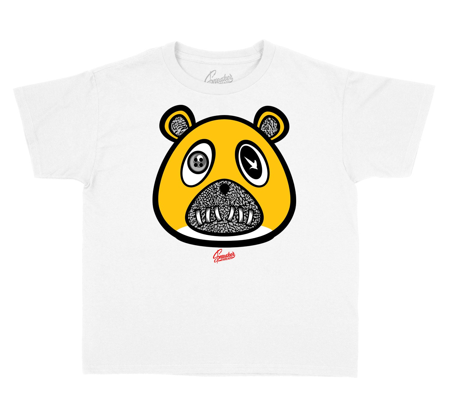 Kids Cool Grey 3 Shirt - ST Bear - White