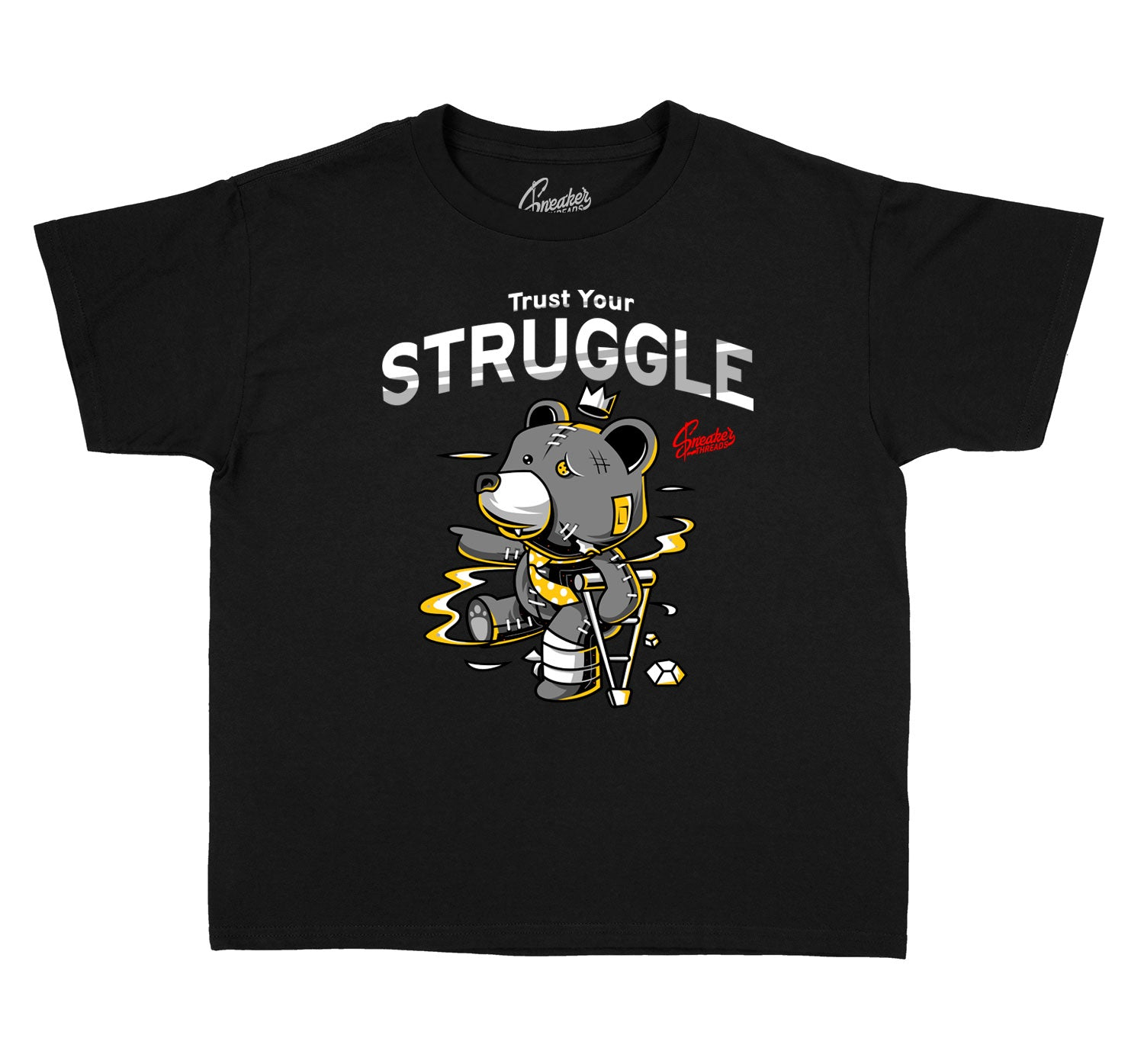 Kids Cool Grey 3 Shirt - Trust Your Struggle - Black