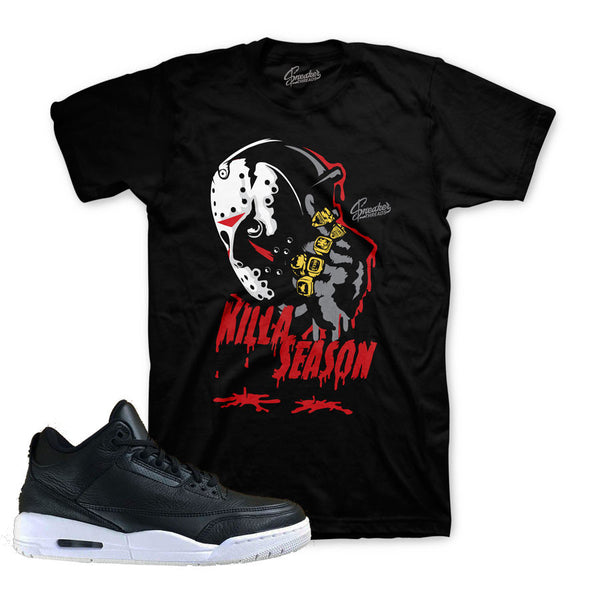 Jordan 3 Cyber Monday Shirt - Killa Season - Black