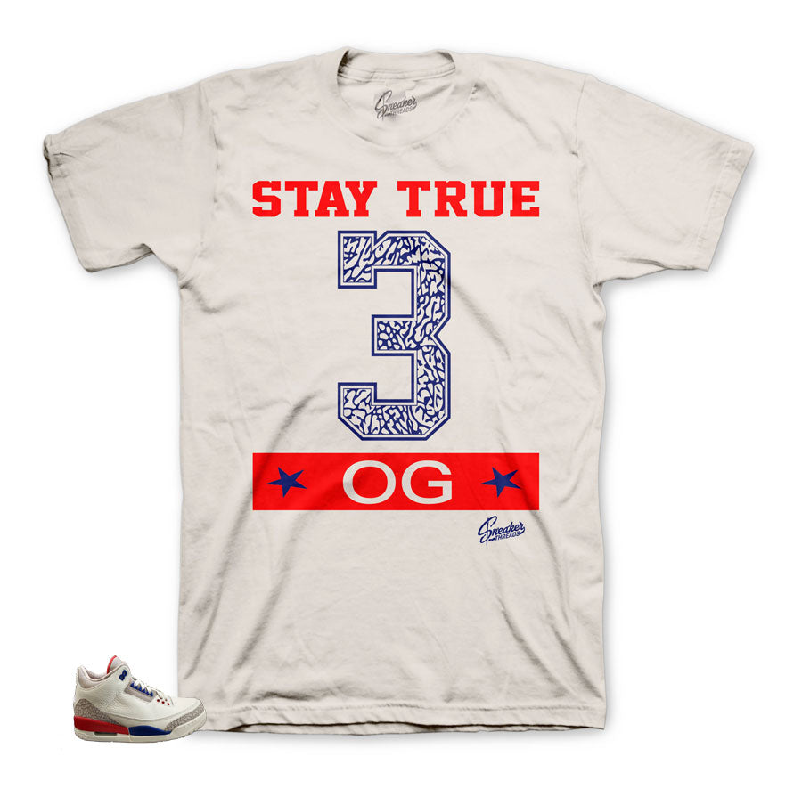 Jordan 3 Charity Game Stay True tee
