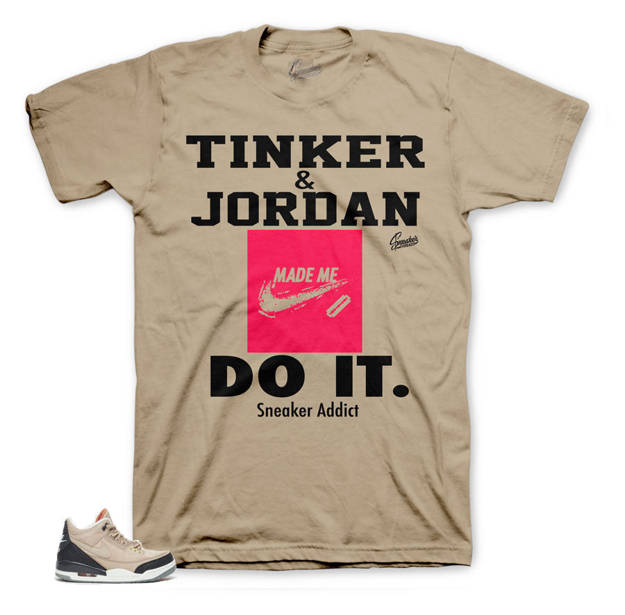 d719df924628 Jordan 3 Tinker Hatfield Shirts Match Retro 3 NRG Cement Tinker.