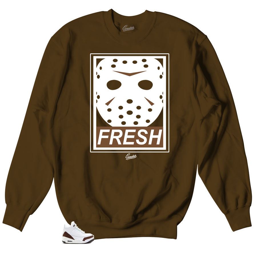 Jordan 3 Mocha Fresh to death Crewnecks