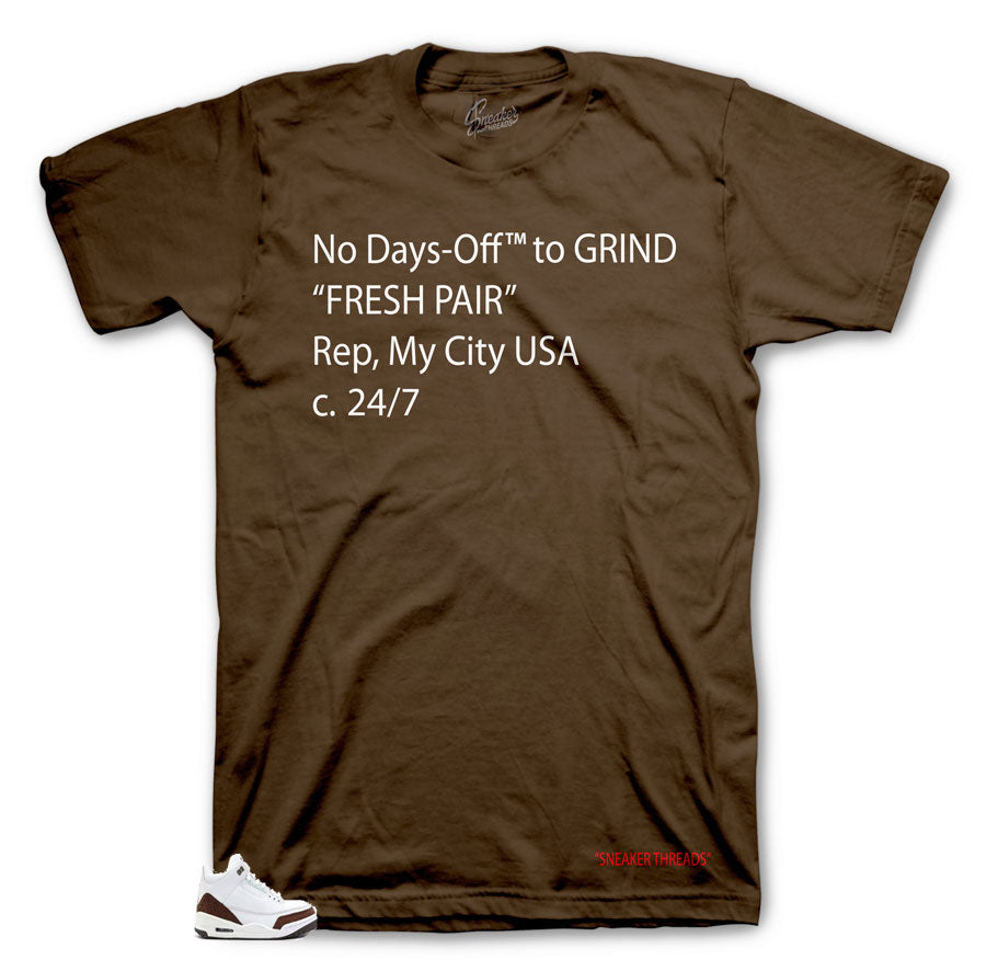 d5acab5175df53 Home Jordan 3 Mocha Shirt - Days-Off - Brown. Share