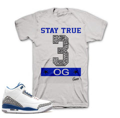 181cc4ddcf62ed Shirts match Jordan Retro 3 true blue retro 3 s sneaker tees shirts.