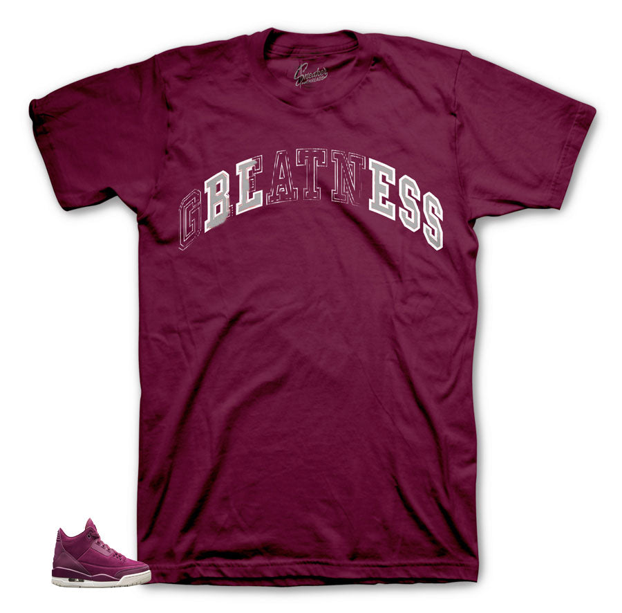 Maroon Stitched Bless shirt for Bordeaux 3's