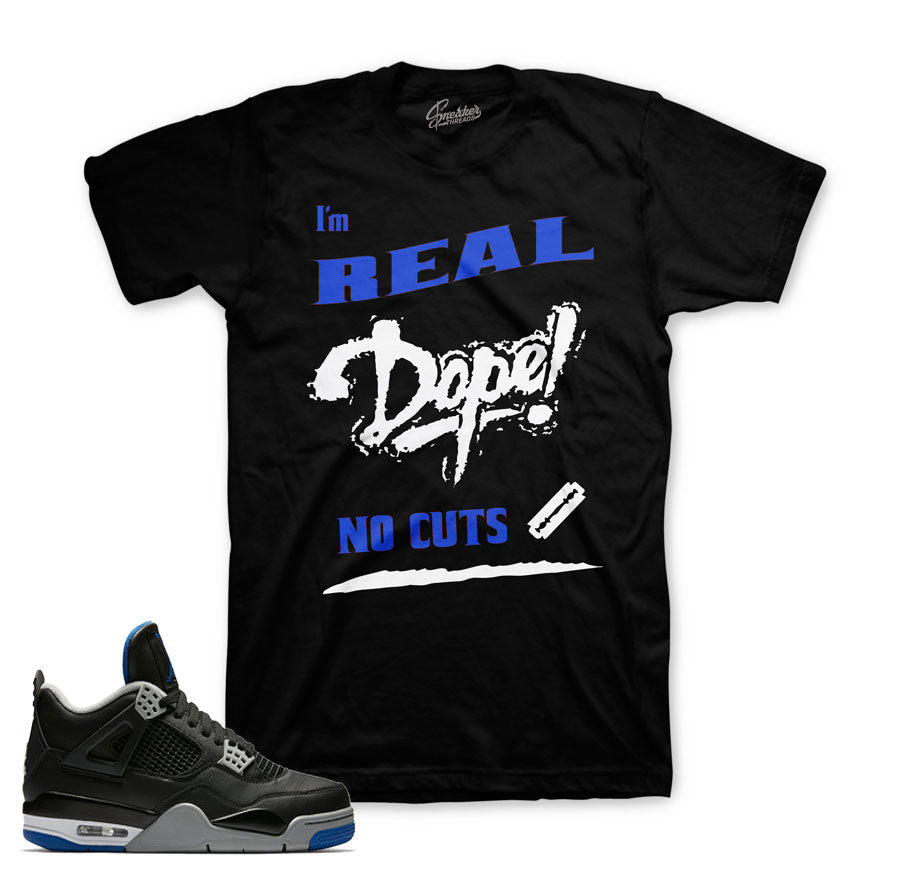 Jordan 4 black royal sneaker tee | Official clothing matches