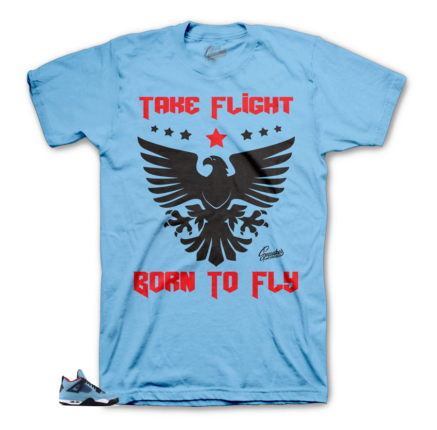 Jordan 4 Cactus Jack Take Flight Shirt