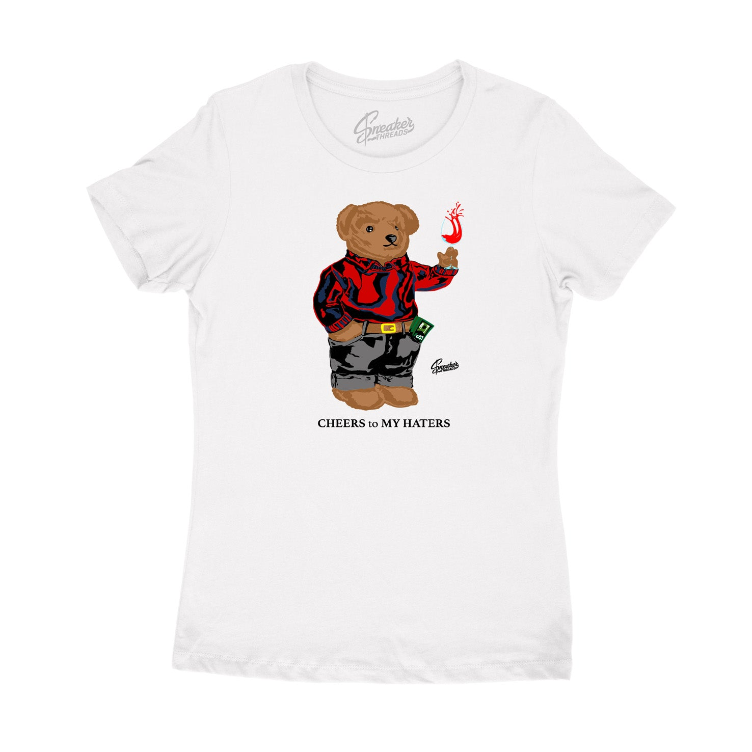 Women's Cheers Bear cute tee for Fiba 4's