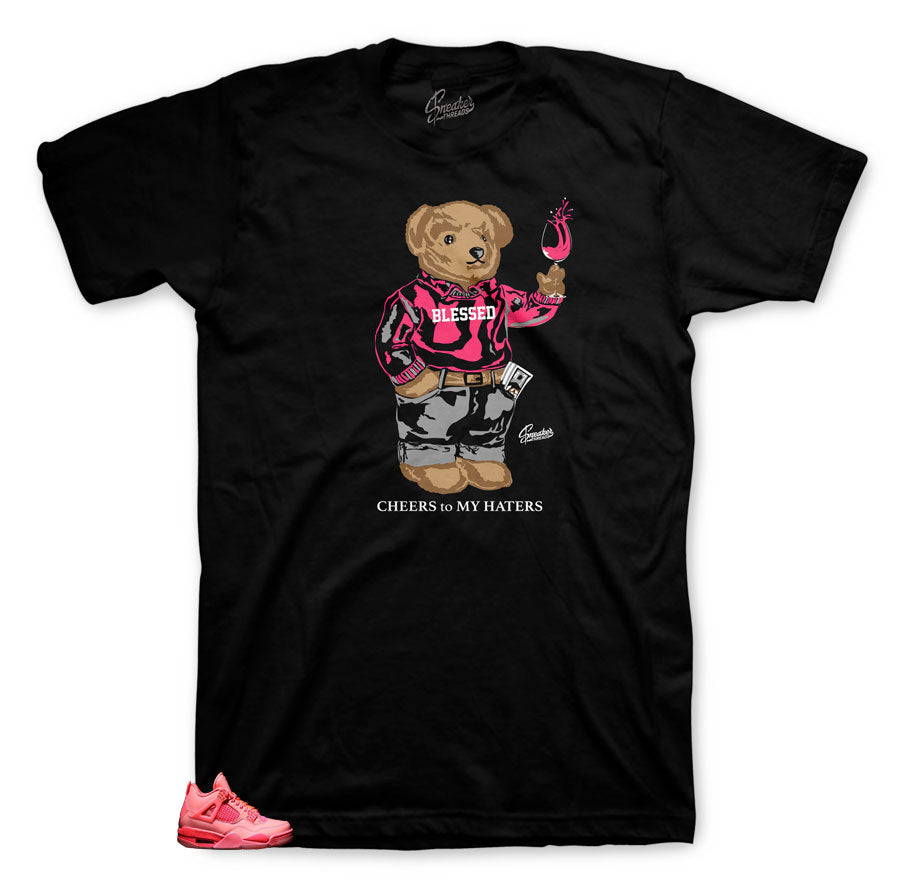 Tee collection designed to match Jordan 4 Hot Punch sneakers