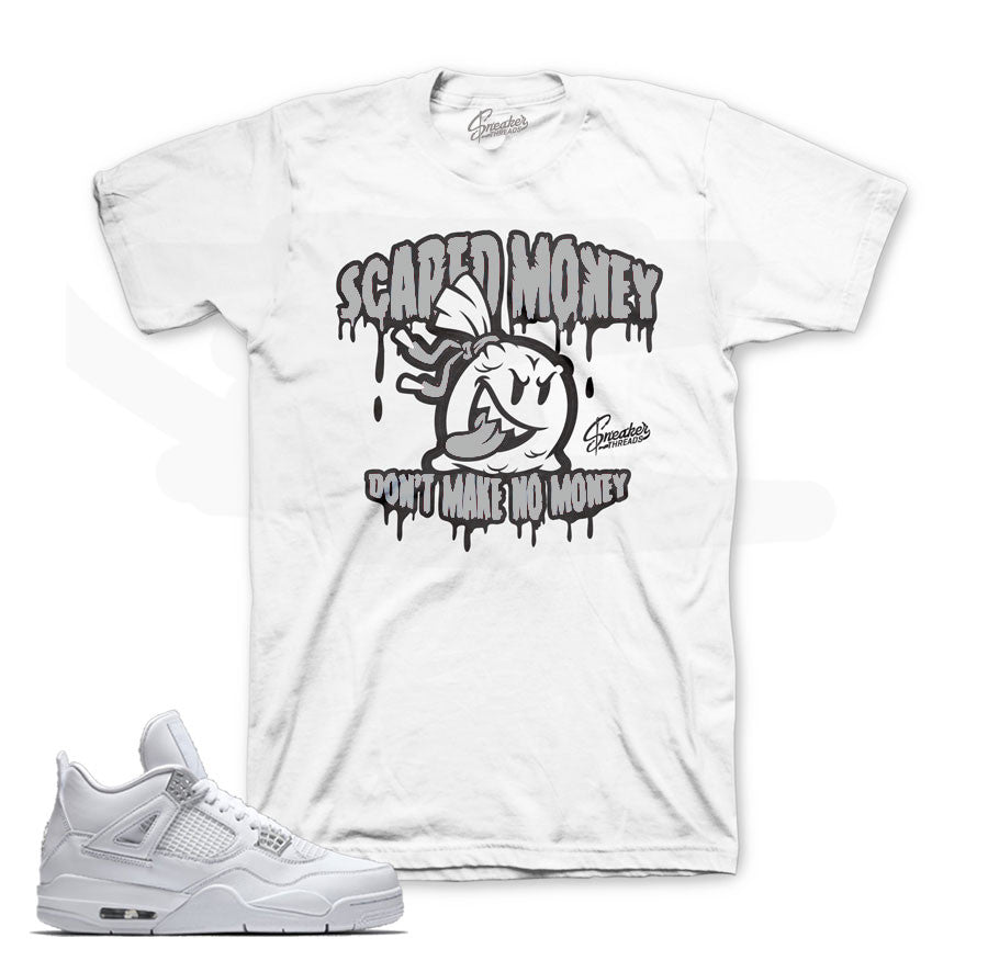 Jordan 4 pure money tee match retro 4's shoes.
