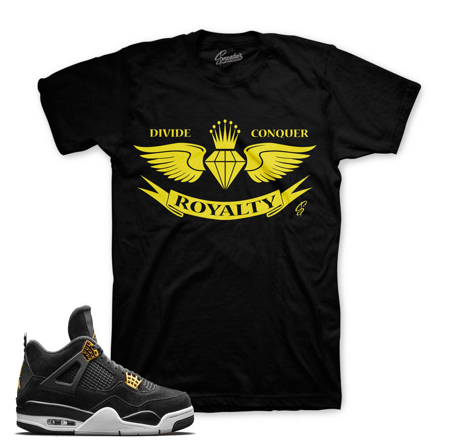 Jordan 4 royalty shirts match royalty 4's sneaker match tees.