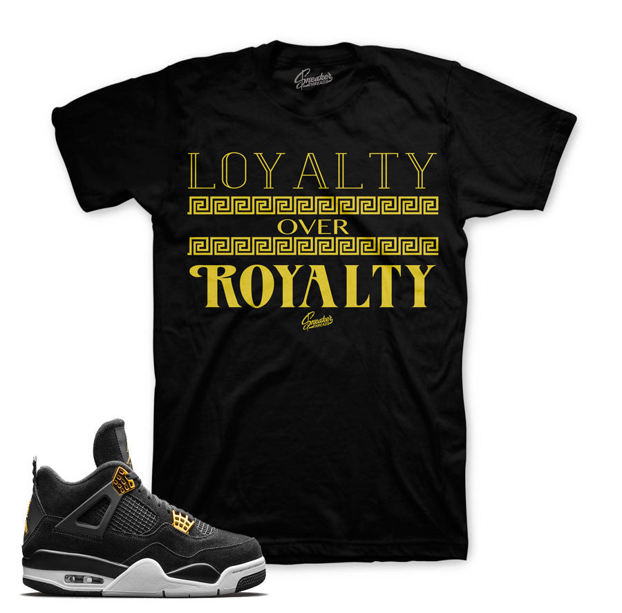 Royalty 4's sneaker match tees match Jordan4 royalty.