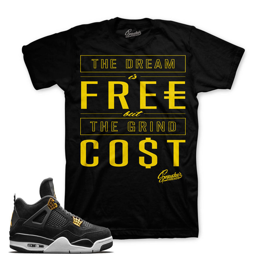 Jordan 4 royalty tees match sneakers | Sneaker Match Tees
