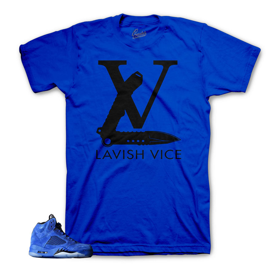 Shirts match Jordan 5 Blue Suede | Official Sneaker shirts.