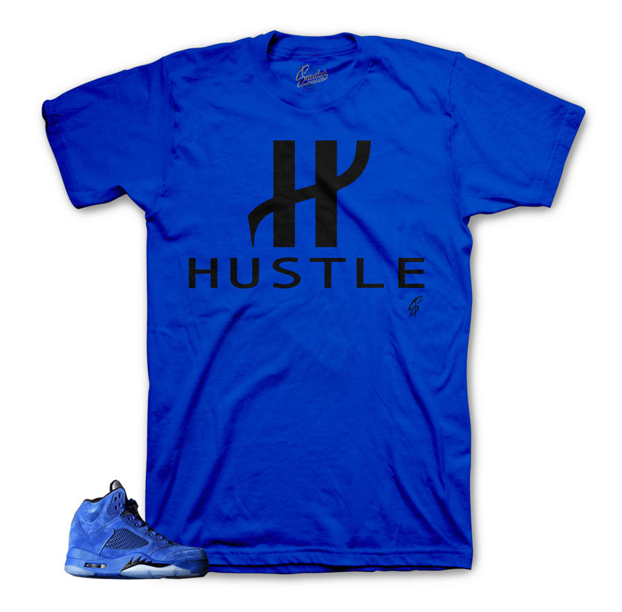 Sneaker shirts official | My rules jordan blue suede 5 tee.