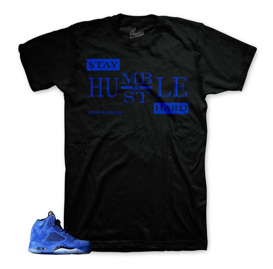Official shirts  | Jordan 5 Blue Suede Match | Sneaker shirts