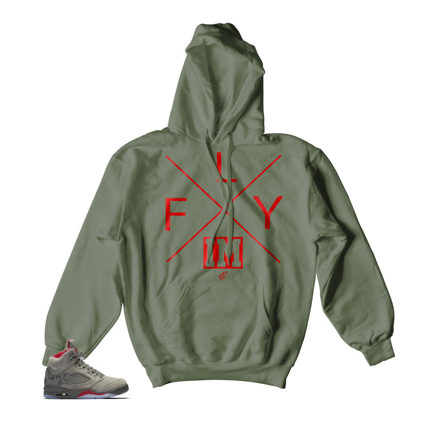 Jordan 5 camo take flight hoodies Match | Sneaker match hoody