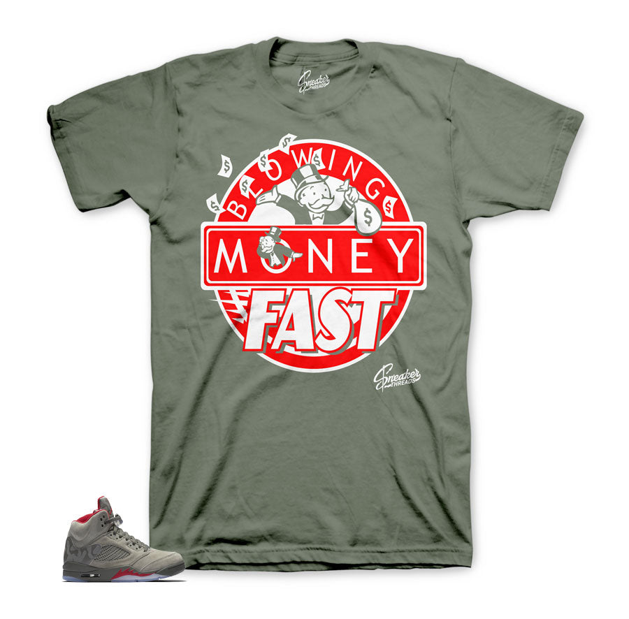 Camo Jordan 5 shirts match retro 5 | Sneaker match shirts