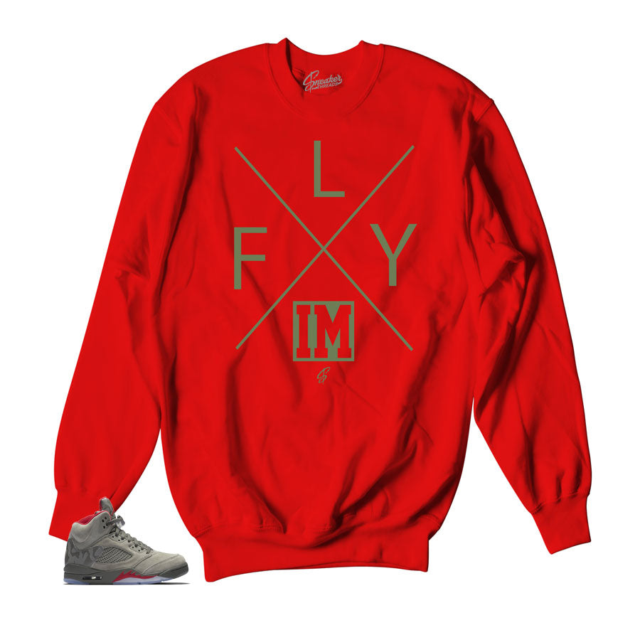 Jordan 5 camo take flight sweaters match retro 5 camo shoes.