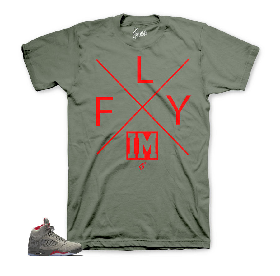 Jordan 5 camo take flight shirts Match | Sneaker tees