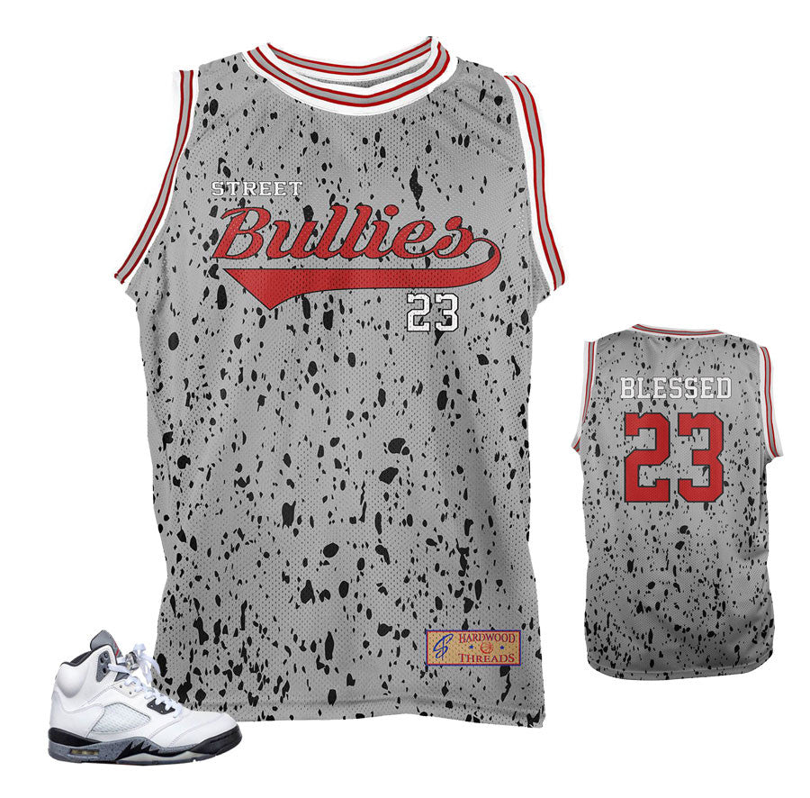 Jersey to match Jordan 5 cement shoes | Cement 5 jerseys.