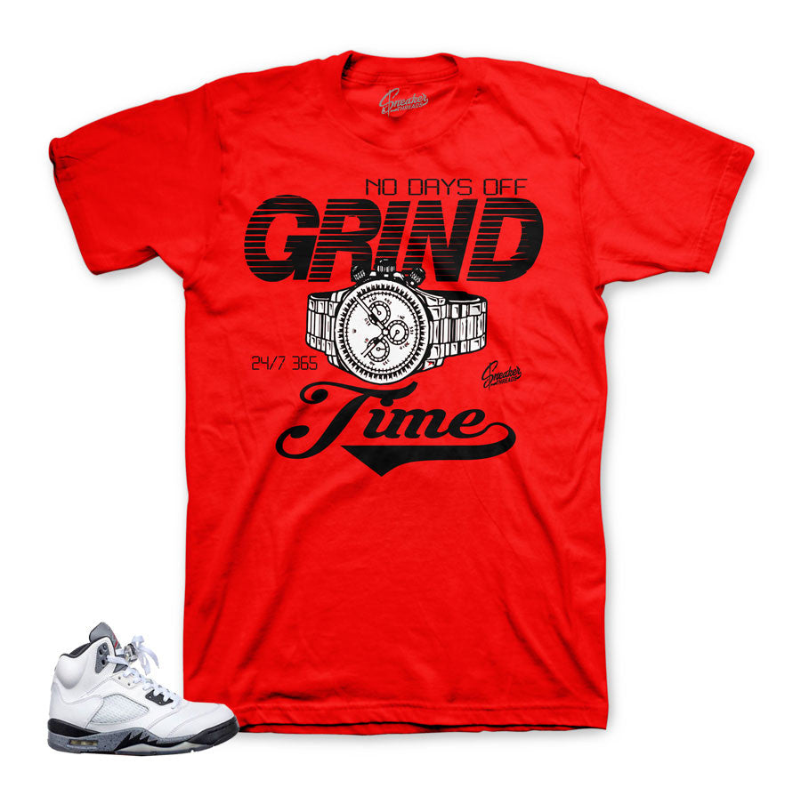 Jordan 5 cement shirts match shoes | Grind Time Shirt