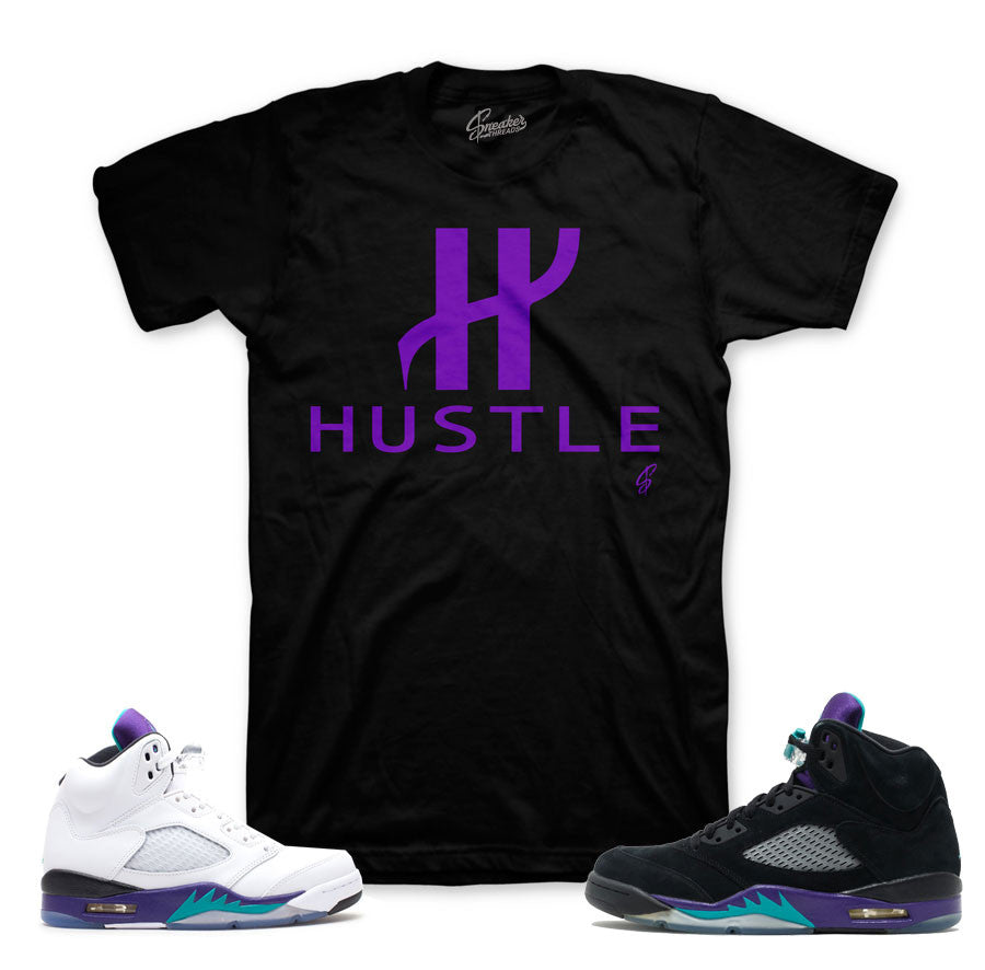 Jordan 5 grape tees match black | Sneaker Match Clothing
