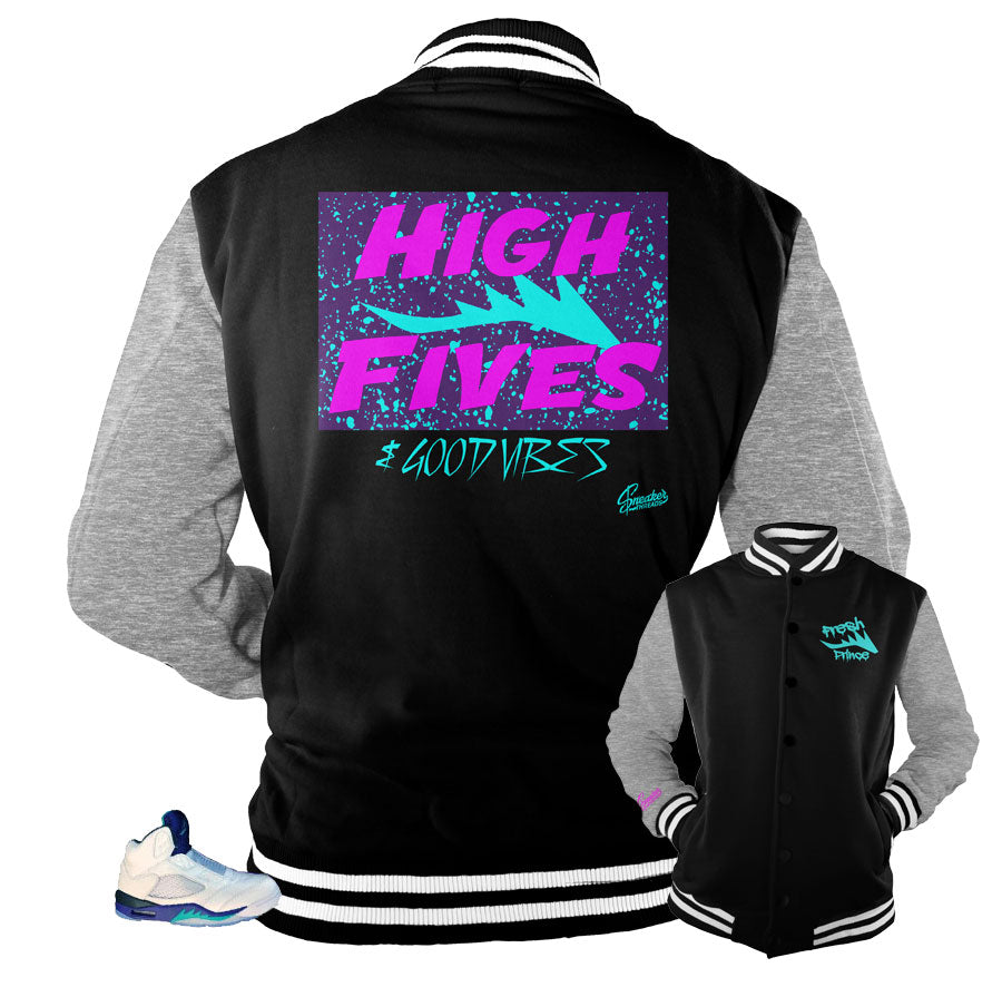 Jordan 5 grape bel air jackets | Bel air Jordan 5 jacket coats.