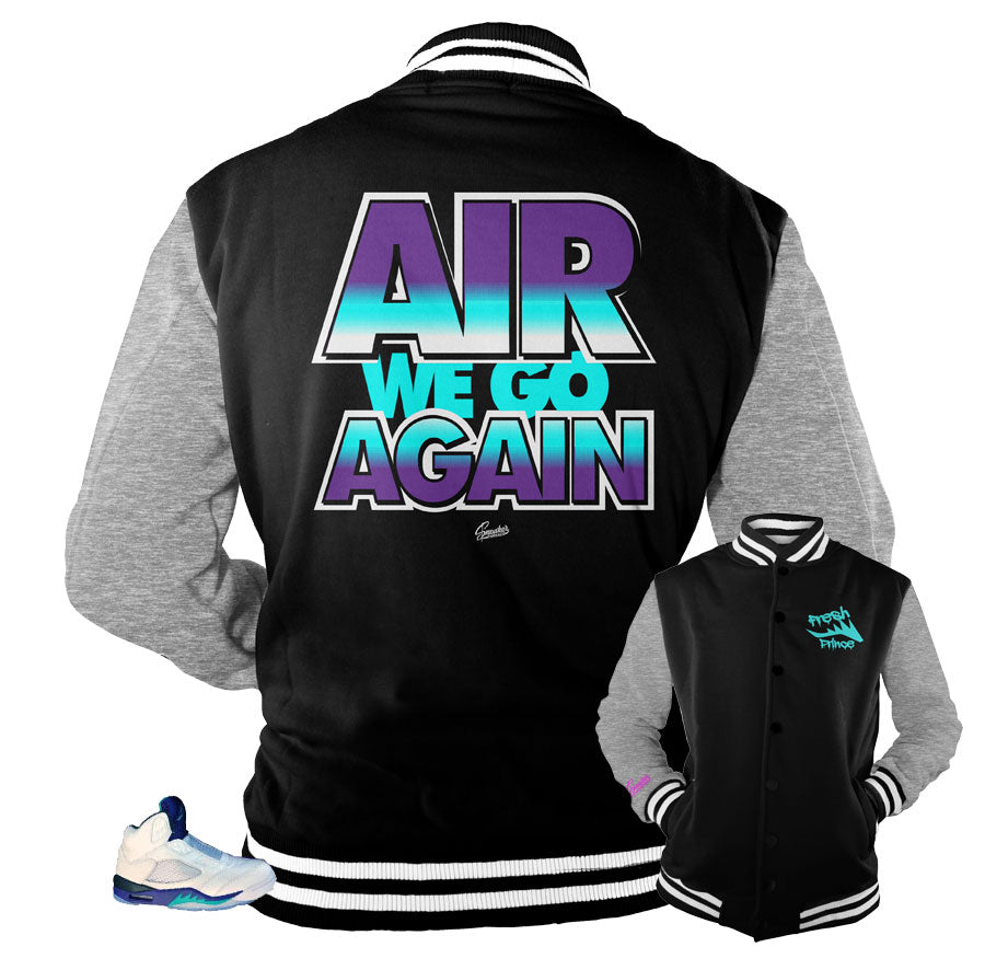 Jordan 5 grape bel air jackets match retro 5 will smith shoes.