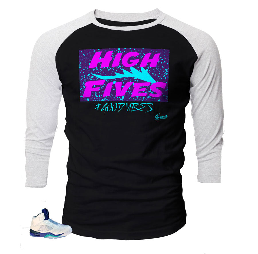 d16fcc419bf Raglan shirts match retro 5 grape bel air shoes | fresh prince retro 5