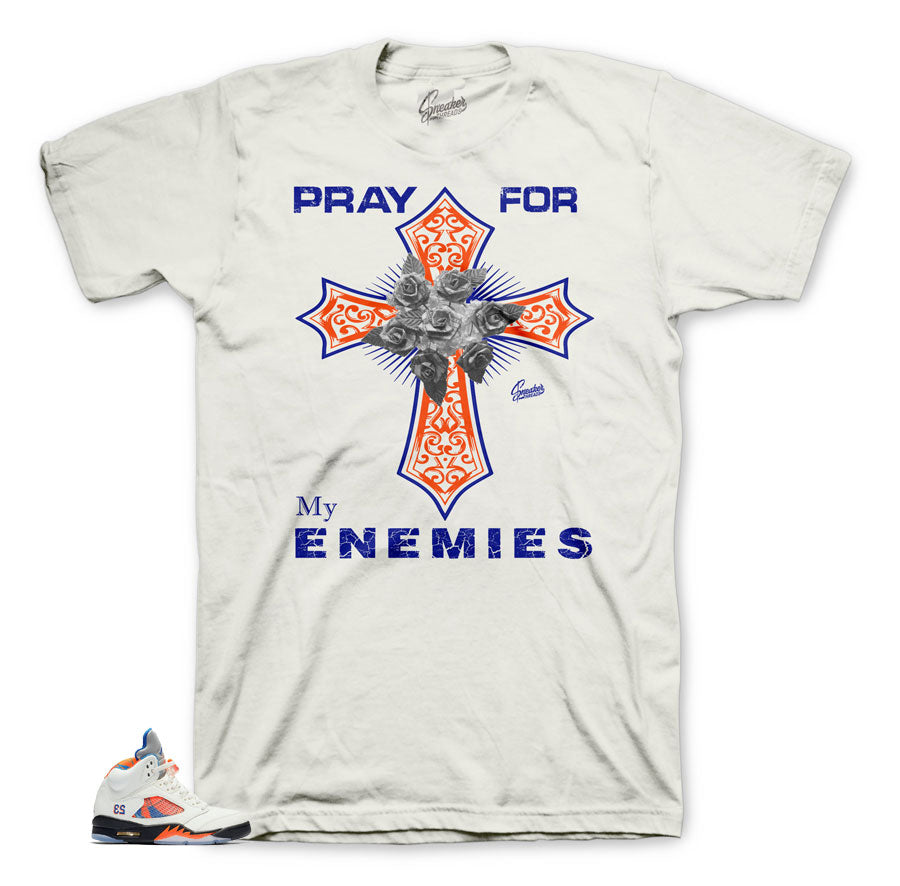 Jordan 5 International flight sneaker tees match Barcelona 5 retro.