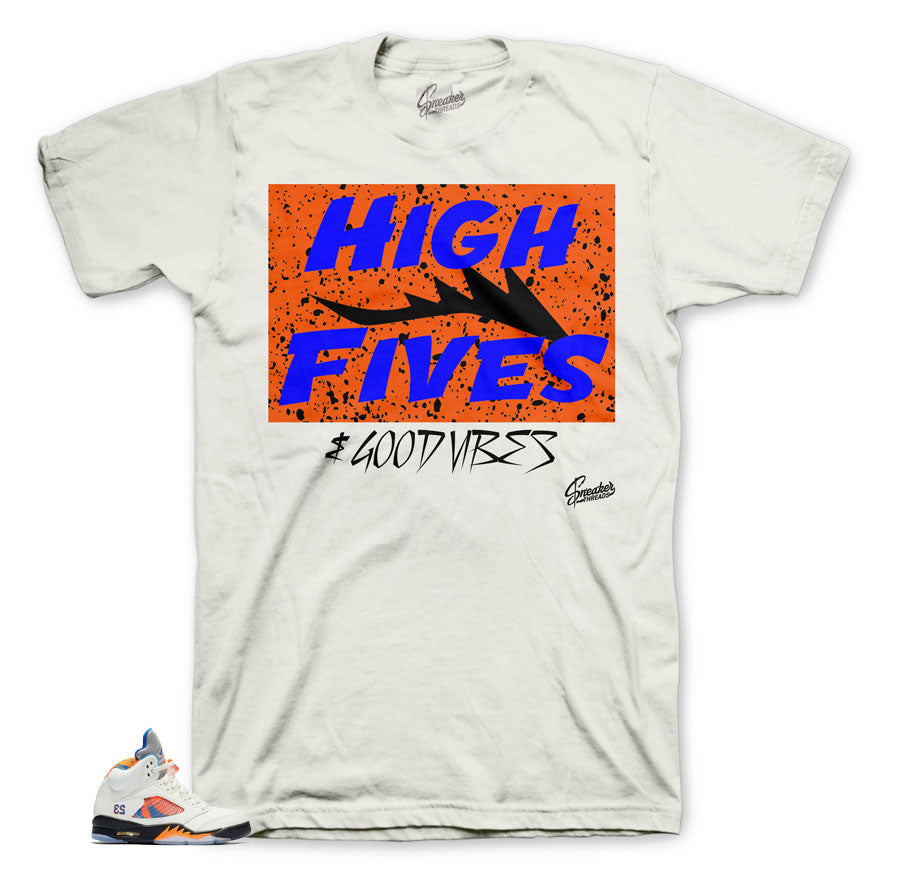 Jordan 5 international flight Barcelona sneaker tees match retro 5.