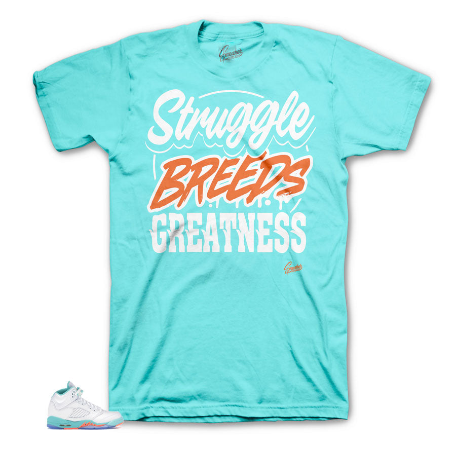Jordan 5 Light Aqua Struggle Breeds Tee