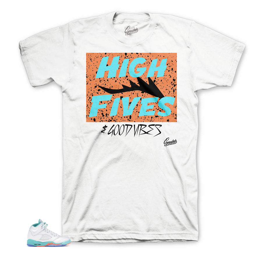 Dope High Fives Shirt for Light Aqua 5's