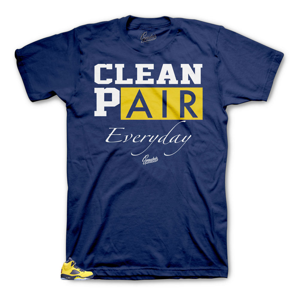 Jordan 5 Michigan Everyday shirt collection to match sneakers perfect